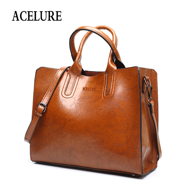 ACELURE кожаные сумочки большой Для женщин сумка Высокое качество Повседневная Женская обувь сумки багажник тотализатор испанского бренда сумка Дамы Большой Bolsos