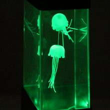 Mini Desktop Jellyfish Lamp with Color Changing Light Jelly Fish Tank Aquarium Lamp Home Decoration Night Light(China)