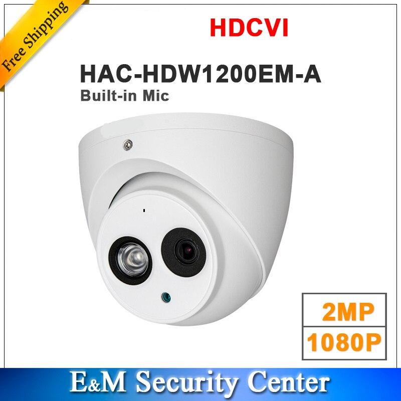 Groothandel engels 2MP 1080 p HDCVI HAC HDW1200EM A vervangen HAC HDW1200E A IR Eyeball Camera Mic ingebouwde DH HAC HDW1200EM A-in Beveiligingscamera´s van Veiligheid en bescherming op AliExpress - 11.11_Dubbel 11Vrijgezellendag 1
