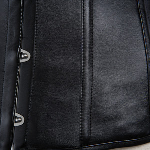 Image 4 - Sapubonva pu underbust corset leather black synthetic gothic punk waist cincher sexy cupless corset bustier top ladies party