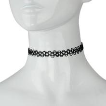 2pc New Brand Hot Tattoo Choker Stretch Necklace Women Retro Vintage Elastic Black Punk Chocker Necklaces Girls Jewelry Gift