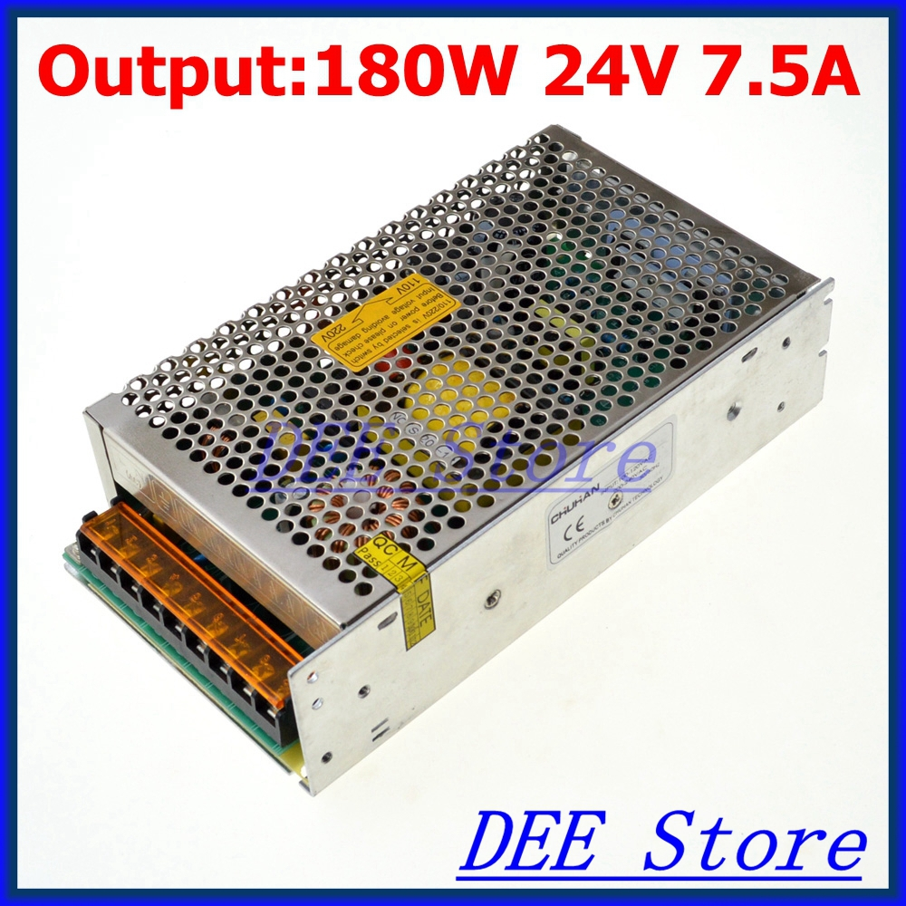 Led driver 180W 24V 7.5A Single Output  Adjustable Switching power supply unit for LED Strip light  AC-DC Converter single output uninterruptible adjustable 24v 150w switching power supply unit 110v 240vac to dc smps for led strip light cnc