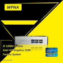 WPNA Nettop UX850-mini intel core i5 5200U HD Graphics 5500 WIFI mini pc windows All In One Computer Office Desktop