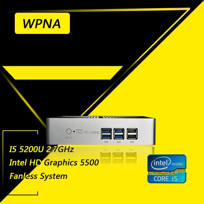 Wpna 5200u ux850-mini nettop intel core i5 hd graphics 5500 wifi mini pc windows