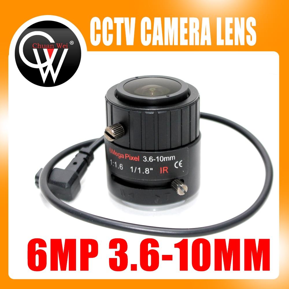 6MP 3.6-10mm VF Manuel Zoom Auto IRIS F1.8 1/1. 8