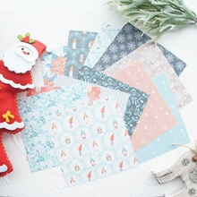 24 sheets DIY 12 style 15.2*15.2cm winter Red hat dwarf theme craft paper as scrapbooking creative handmade gift use