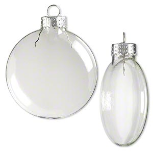 Aliexpress.com : Buy Clear Glass Disc Balls Christmas ornament ...