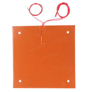 Image 2 - CR 10 CR 10S 310*310MM Silicone Heater Pad 220V 750W silicone Heatbed 3M adhesive for cr10 cr10s 3D build plate heating parts