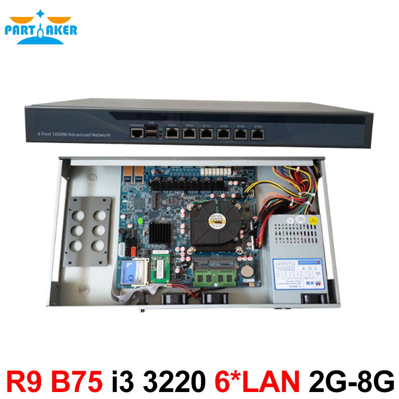 Network routers with 6 intel PCI-E 1000M 82583V Gigabit LAN Intel Dual Core i3 3220 3240 3.3Ghz with Mikrotik ROS 2G RAM 8G SSD 1u network router products with six intel pci e 1000m 82574l gigabit lan intel core i3 3210 3 2ghz mikrotik ros 2g ram 4g slc