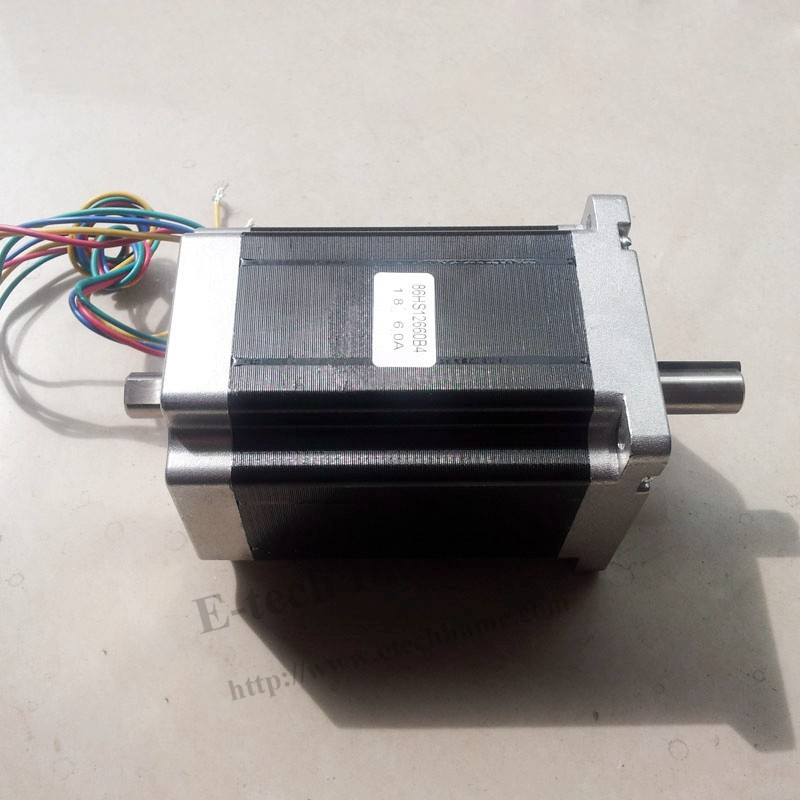 Nema 34 double shaft stepper motor 9.5 n. M1319 oz. - c) 6A body length 126 mm CE ROHS Nem 34 stepper motor dual shaft nema 17 stepper motor 52n cm 72 oz in body length 48mm ce rohs cnc 3d printer motor