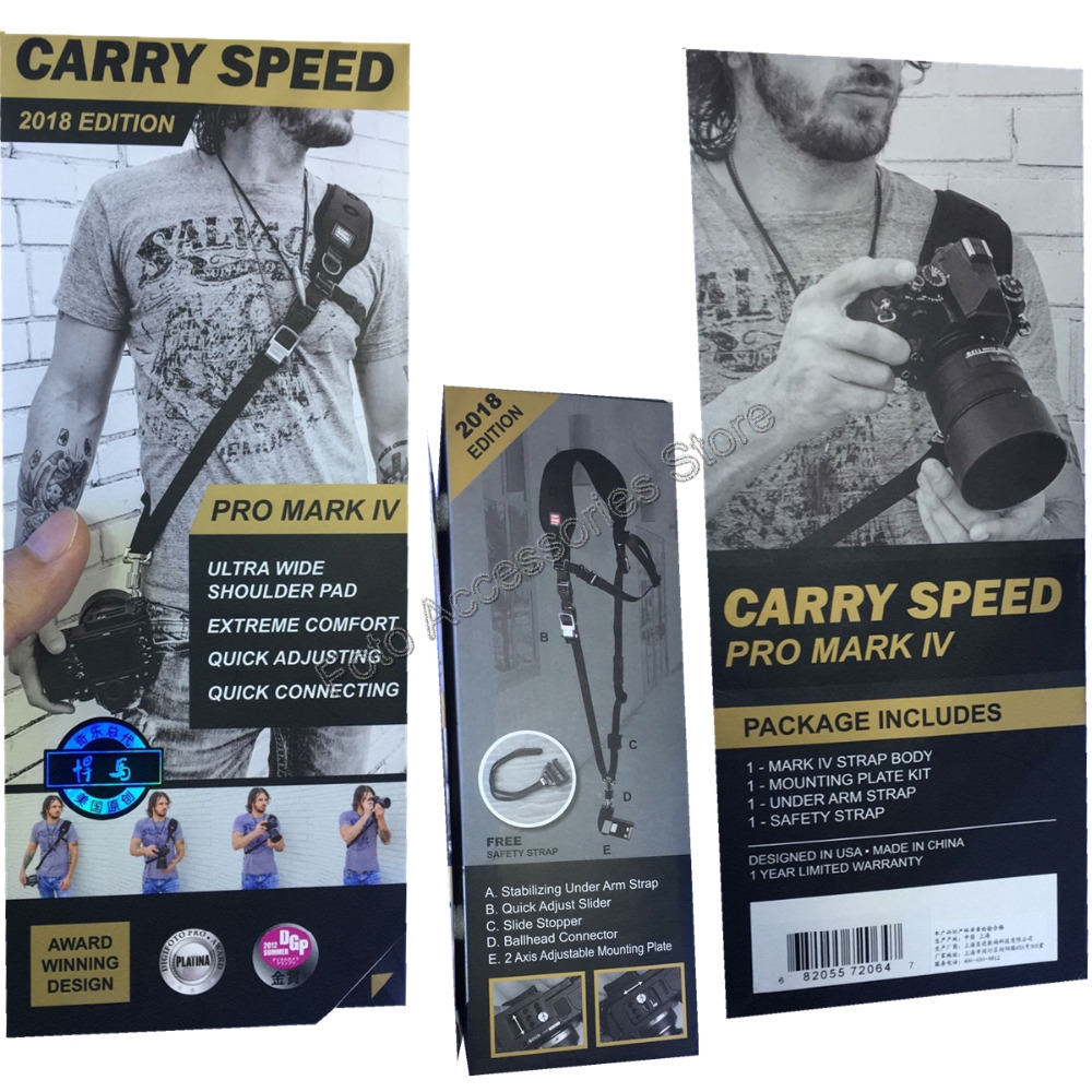 Genuine Carry Speed Pro Mark IV FS PRO Professional Sling Camera Shoulder Strap Rapid Quick for