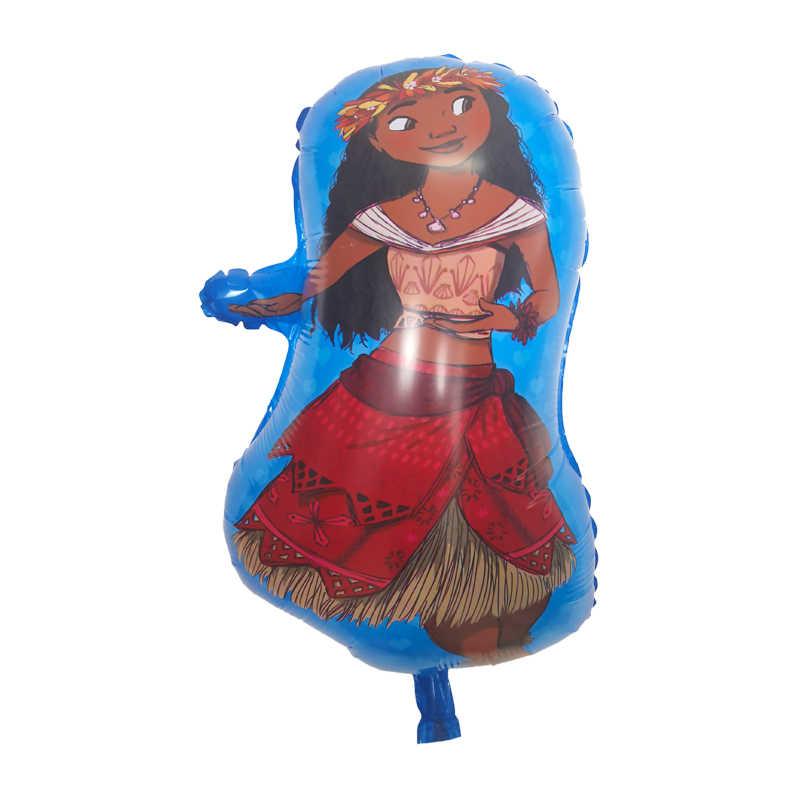 6 ชิ้น/ล็อตลูกโป่งเจ้าหญิง 30 นิ้วจำนวน Ocean party อุปกรณ์ moana theme วันเกิดตกแต่งเด็กของเล่น globo หญิงของขวัญ