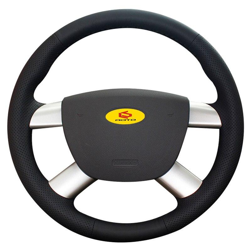 Tresse sur le Couvercle du Volant pour Ford Kuga 2008-2011 Focus 2 2005-2011 C-MAX 2007- 2010 cas du volant en cuir