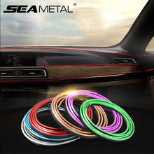 5M Car Styling Interior Accessories Decoration Strip Door Decor Stripe Moulding Trim Dashboard Edge Universal Auto Chrome Strips 3 7 meter interior moulding trim strip decoration thread dashboard sticker decals door air outlet auto accessories car styling