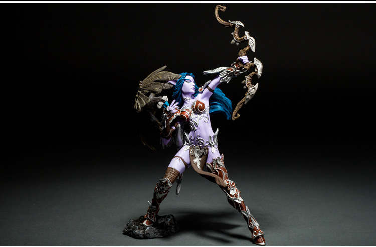 Night Elf Hunter Alathena Moonbreeze Sorna Figure wow collection model toy 1