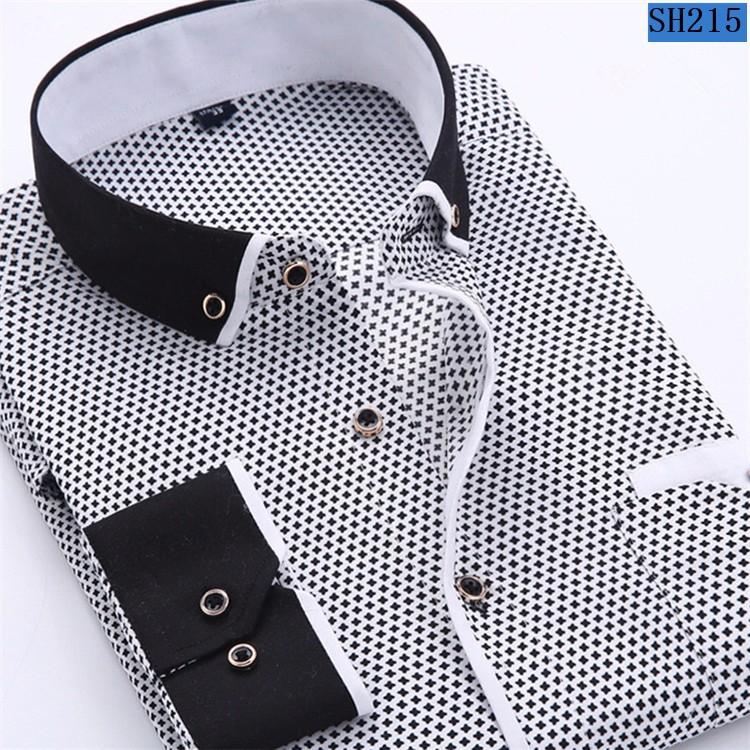 Мужская рубашка 2016 Slim Fit