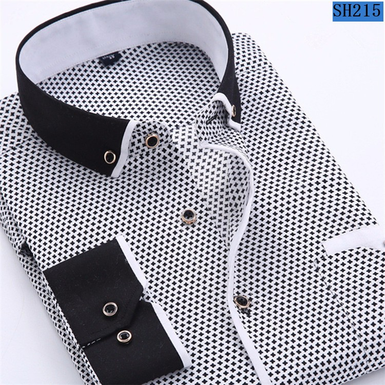 HTB1WNbRMpXXXXaiXXXXq6xXFXXX2 - 2017 Men Fashion Casual Long Sleeved Printed shirt Slim Fit Male