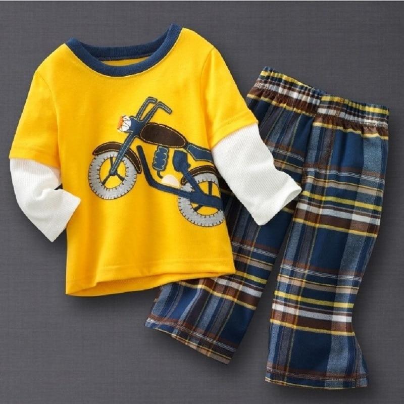 Hooyi Baby Boys Ruházat szett Gyermek sportruházat Motoros fiúk - Gyermekruházat
