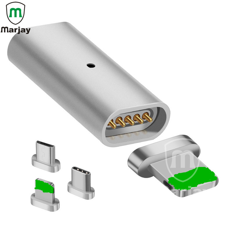Marjay OTG Micro USB Magnet Adapter micro USB to Type-C Male Connector For iPhone Apple Micro USB Charger Cable Magnetic Adapter