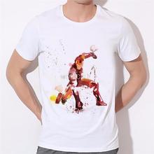 Moe Cerf Men T Shirt Captain America Civil War Tee 3D Printed T-shirts Men Avengers 3 iron man Clothing Male Tops 17-5#