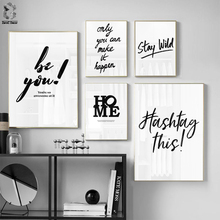 Minimalism Canvas Posters and Prints Motivation Quotes ONLY YOU CAN MAKE IT HAPPEN Wall Art Picture for Living Room Decor