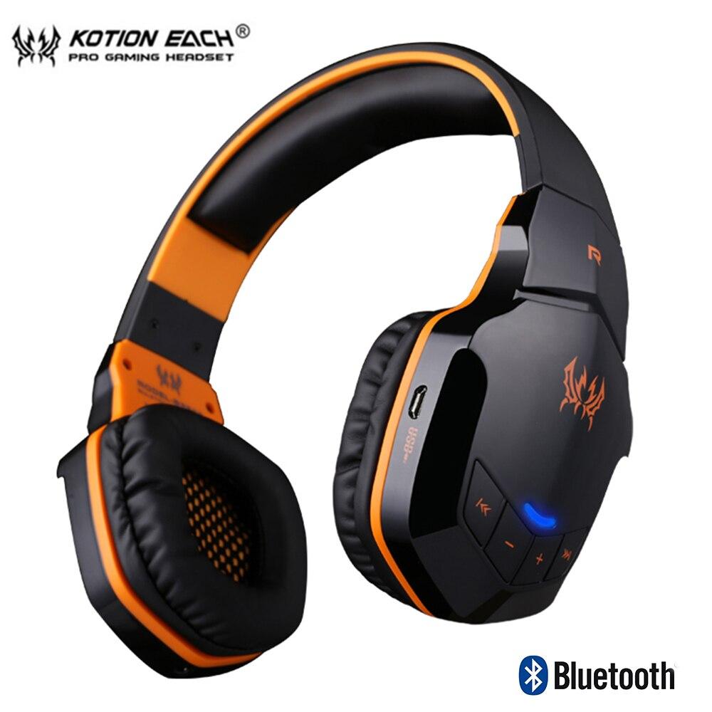 KOTION JEDER B3505 Drahtlose Bluetooth 4,1 Stereo Gaming Kopfhörer Headset Volumen Steuer Mikrofon HiFi Musik Headsets spiel-in Handy-Ohrhörer und Kopfhörer Bluetooth aus Verbraucherelektronik bei  Gruppe 1