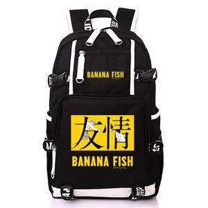 Image 4 - Anime BANANA PESCE borsa di Tela Zaino Cosplay Borse Da Scuola Anime Del Computer Portatile Zaino Unisex Zaino Da Viaggio Donne Borse A Spalla