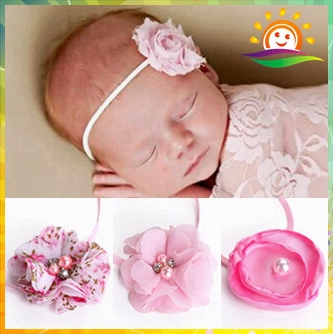 Chic Shabby Flower Baby Headbands 4d12381df5b