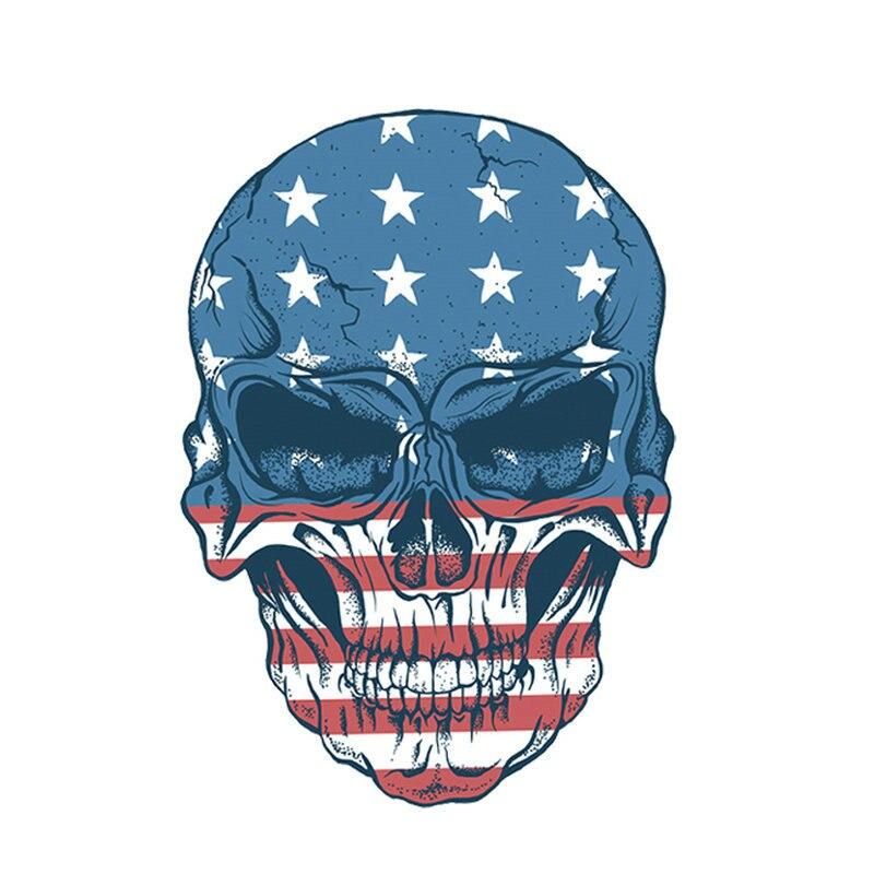 10pcs/lot Applique Flag Skulls Washable Badges Diy Accessory New Design Clothing Deco Heat Transfer Patches For Clothes