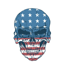 10pcs/lot Applique Flag Skulls Washable Badges Diy Accessory New Design Clothing Deco Heat Transfer Patches For Clothes