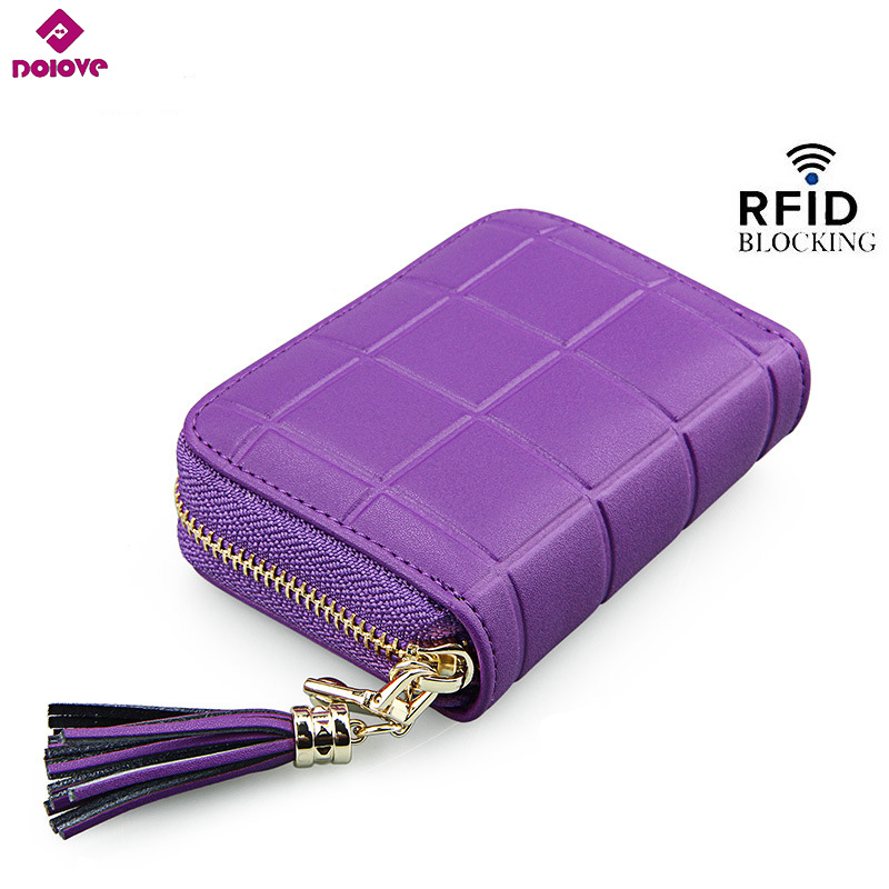 DOLOVE Fashion Leather Card Bag - Holds 15 cards