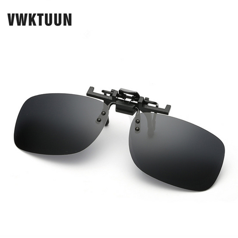 VWKTUUN Square Polarized Clip On Sunglasses Women Men Oversized Sun Glasses Driving Polarized Night Vision Lens Anti-UVA/UVB