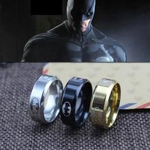 Новое поступление V8 полированный Бэтмен из нержавеющей стали кольца для мужчин и женщин Титановая Сталь Ювелирные изделия супергерой серии мужские s кольцо