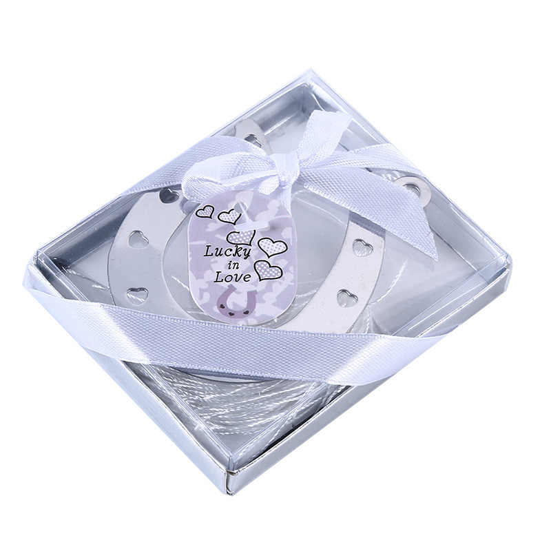 Colección de amor creativo marcador de herradura de Metal pequeño regalo creativo decoración de boda regalo de cumpleaños