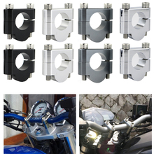 22mm 7/8 Handlebar Mount Risers Clamps Aluminum For Triumph Speed Triple 675 750 900 955i 1050i T 509 SPEED FOUR