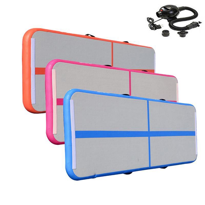 Sport Portable 0.5*3m Inflatable Tumble Track Trampoline Air Track Taekwondo Gymnastics Air Mattress Gym Tumble Airtrack + Pump цены
