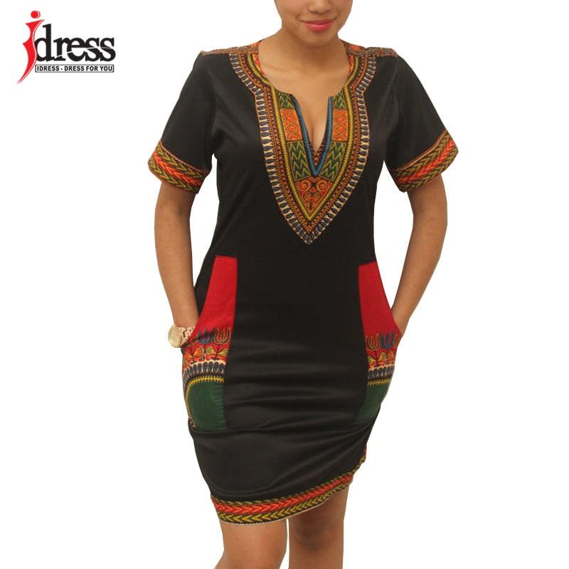 Hambelela Summer Vintage Dress Women Tunic Casual Beach Dress 2020 African Print Shirt Dress Robe Femme Plus Size Dashiki Dress(China)