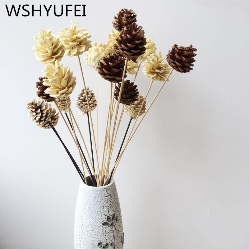 4 pieces / piece pine cone decoration forest gift fruit ...