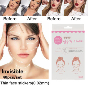40 Pcs/Set Makeup Beauty V-Shape Face Lift Up Fast Chin Adhesive Tape Makeup Face Lift Rubberized Fabric Tools Drop Shipping