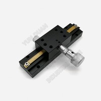 X Axis 80mm stroke 3'' 100mm Manual Displacement Trimming Platform Guide Linear Fine Tuning Sliding Table Optics camera Position