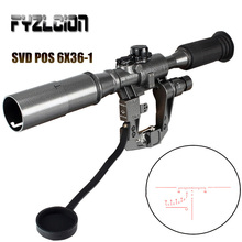 цены Hunting Dragunov SVD POS 6X36-1 Red Illuminated Optics Rifle  Riflescope Tactical Optics Sights For Sniper Shooting AK Rifle