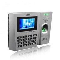 Бесплатная доставка ZK Finger v10.0 3 дюйм(ов) цветной TFT Экран U260 отпечатков пальцев посещаемость времени записи (пальцев + ID)