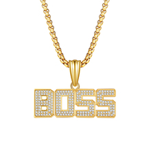 New Arrival gold unisex crystal rhinestone pendant necklace luxury chain women men necklace gifts недорого