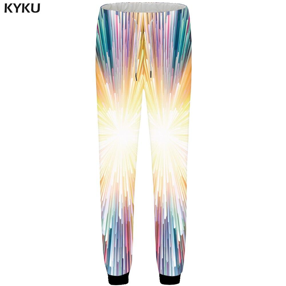 Dashing Kyku Brand Fireworks Sweatpants Men Colorful Pants Jogger Dizziness 3d Print Pants Casual Bodybuilding Hip Hop Mens Trousers Sweatpants