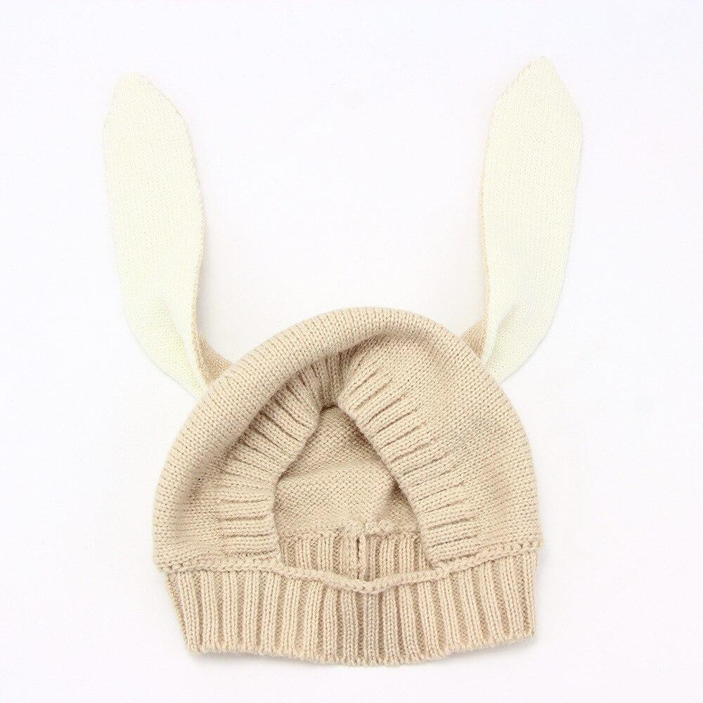 Otoño Invierno niños bebé corte Orejas de conejo tejer sombrero ...