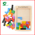 Montessori Wooden toys for children puzzles Tangram Brain Teaser Puzzle Tetris Game Educational Baby Kids toys  gift