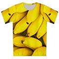 2016 hombres del Verano Más Tamaño XS-6XL 3D Camiseta Impresa alimentos hamburguesa galaxy plátano fruta de marca diseño de la camiseta del deporte camiseta Tops