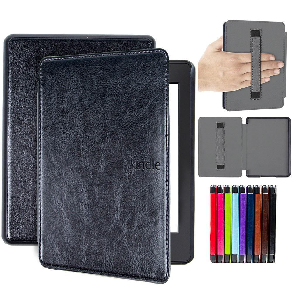 the latest ffcce 59c21 US $7.79 35% OFF|cover case for 2018 Kindle Paperwhite 4 10th Generation  case waterproof e reader cover with hand holder folio cover case-in Tablets  & ...