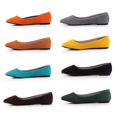 6770b8544f80b Hot Selling Vintage Genuine Leather Women Flat Shoes Fashion Solid Plain  Pointed Toe Slip-on Women Flats Ladies Ballet Flats