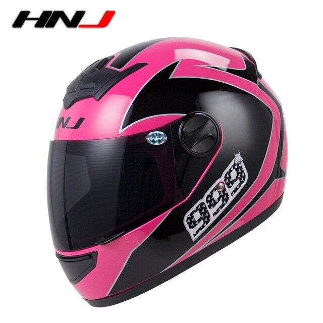 c9ac61ad Motorcycle full face helmet Moto cross Capacete Motor Bike Casco Women  Casque HNJ Brand M318 DOT